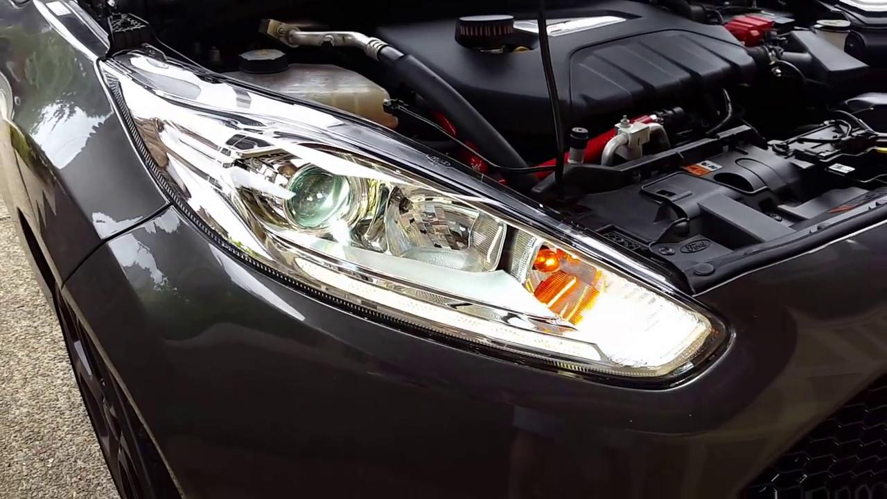 Ford Fiesta ST Installed European Projector Headlight Assembly